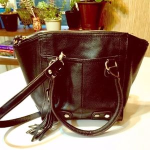TIGNANELLO BLACK LEATHER HANDBAG